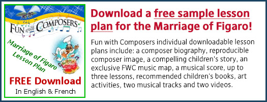 Download a FREE sample lesson plan for the Marriage of Figaro!