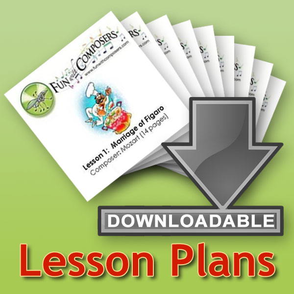 Fun with Composers' individual downloadable lesson plans