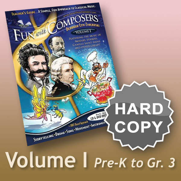 Fun with Composers Volume I – Pre K to Gr. 3 Hard or Download